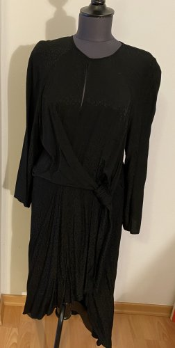 Leo Print Kleid schwarz