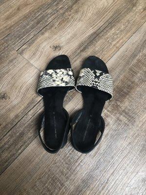 Zara Basic Sandalo comodo nero-beige chiaro