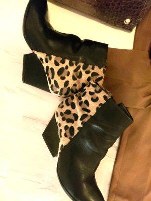 Tamaris Botas de cuña negro-color bronce