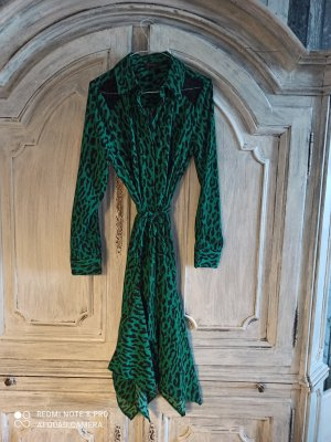 Thalia Sodi Abito blusa camicia verde bosco