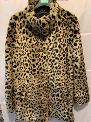 Amisu Fake Fur Coat multicolored polyester