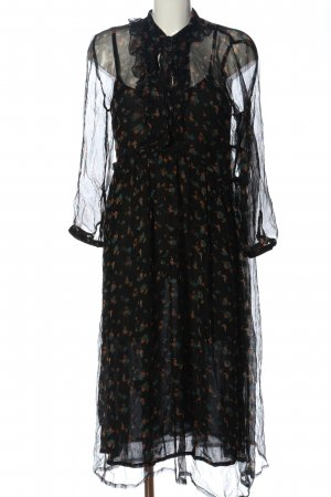 Leon & Harper Petticoat Dress black allover print casual look