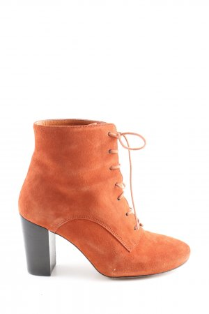 Leon & Harper Bottines à lacets orange clair style décontracté