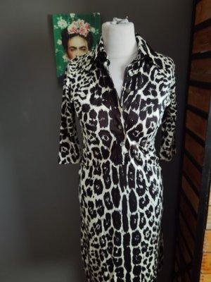 True Vintage Robe en jersey blanc-noir