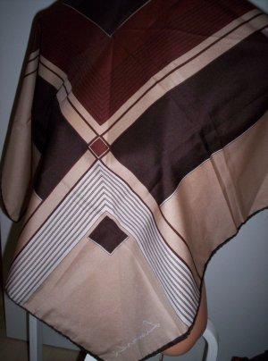 Leonardi Designer-Tuch, braun-beige, wie neu, 77 x 77 cm