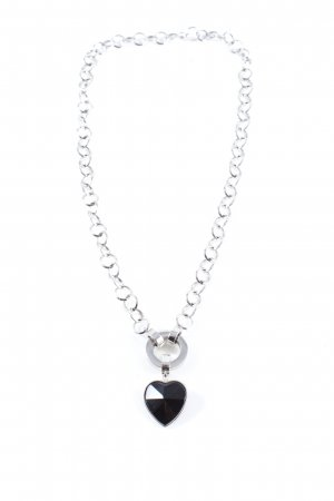 Leonardo Collier Necklace silver-colored-black elegant