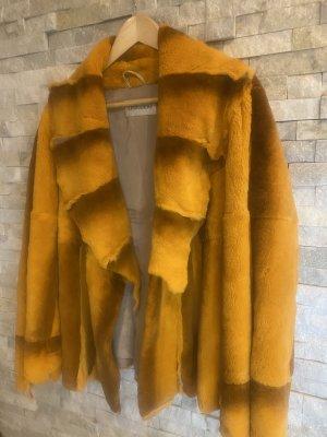 Leonardo Fur Jacket light orange mixture fibre