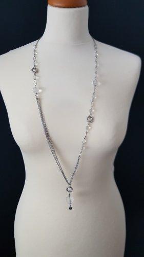 Leonardo lange Silberkette mit verschiedenen Glasperlen