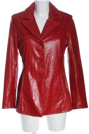 Leonardo Giacca in pelle rosso stile casual