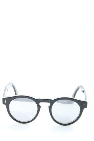 Leonardo Oval Sunglasses black casual look