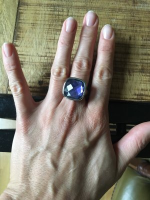 Leonardo Statement ring zilver-paars