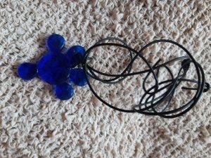 Medaillon blauw Glas