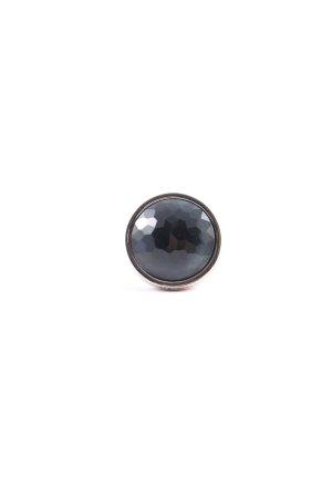 Leonardo Silberring silberfarben-schwarz Glitzer-Optik