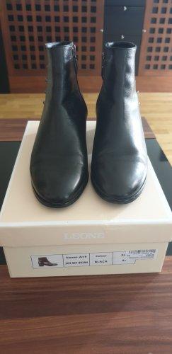 Leone Bottines plissées noir