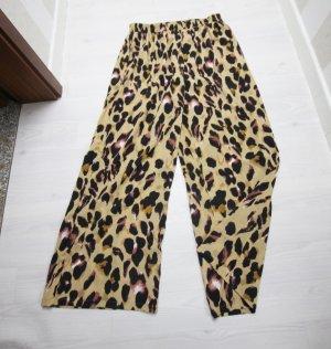 Pantalon taille haute noir-brun sable