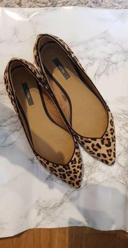 Leopard Ballerinas aus Leder