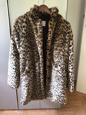 Leopard-Druck Wintermantel