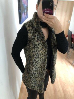 Bershka Fur vest multicolored