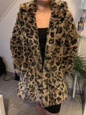 Leopard Fellimitat Mantel Bershka