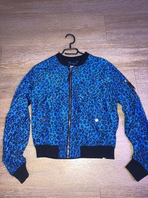 Leopard Jacke Blau Gr.M