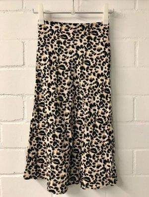 Leopard print Midi Rock