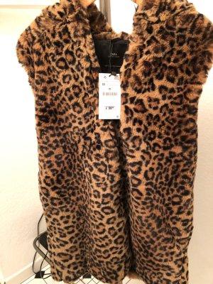Leopard Winterweste