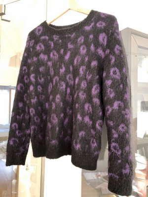 & other stories Jersey de cuello redondo negro-lila