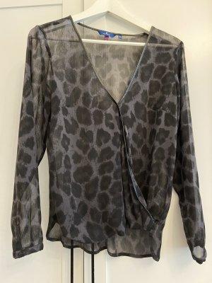 Leoparden Bluse leicht durchsichtig