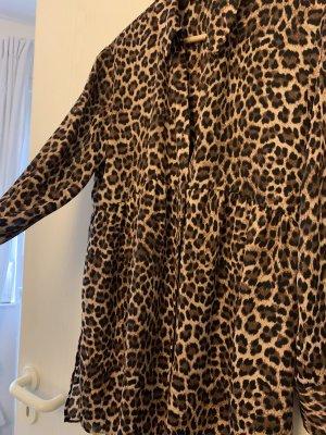 Zara Lange blouse lichtbruin