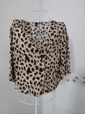 Leoparden cardigan Bluse Jäckchen