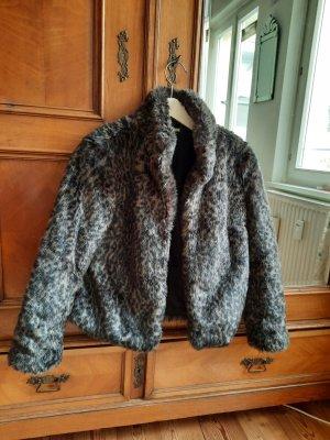Giacca in eco pelliccia nero-marrone-grigio Acrilico