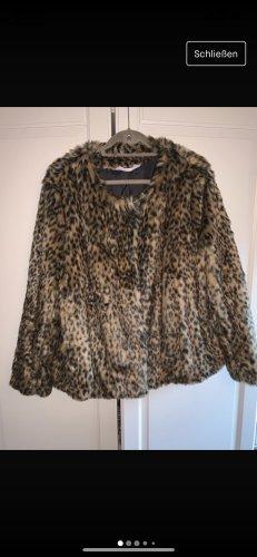 Leoparden Kunstfelljacke