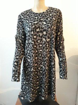 Leoparden Langarm kleid L