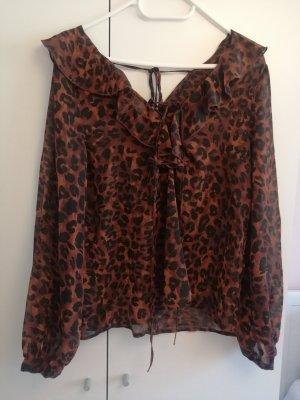 Leoparden Langarmbluse