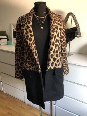 Zara Woman Kurtka ze sztucznym futrem Wielokolorowy