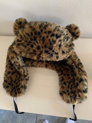 Leoparden Muster Mütze
