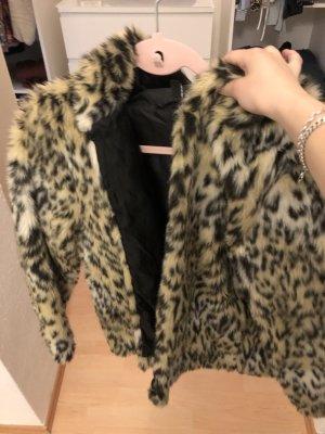 Leoparden Pelzjacke