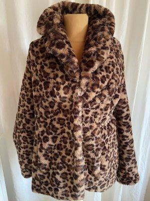 Taifun Fake Fur Jacket brown-black