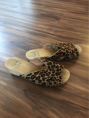 Leoparden-Print Sandaletten / Hausschuhe