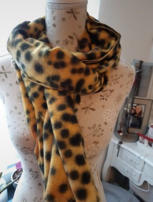 Karstadt Woolen Scarf black-yellow