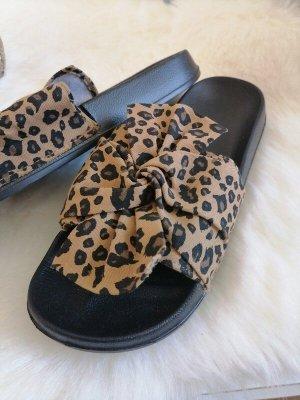 Six Sandalo infradito marrone-nero-oro