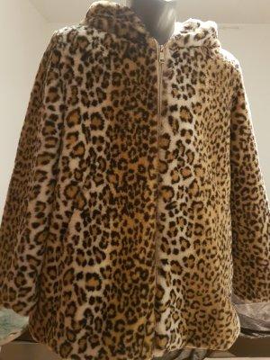 Giacca in eco pelliccia nero-oro