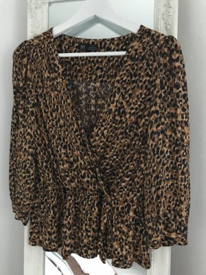 Leopardenmuster Bluse