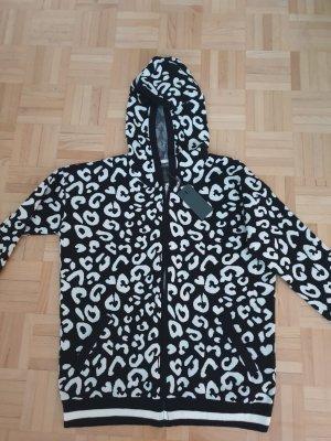 Leopardenprint Hoodie-Kapuzenjacke