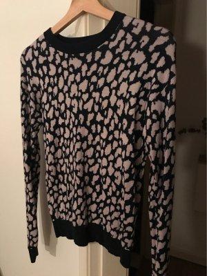 & other stories Crewneck Sweater dark blue-mauve wool