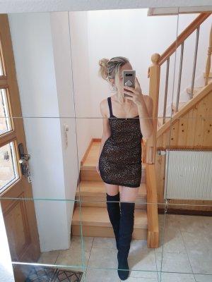Leoprint doppellagiges Minikleid Trend Blogger Musthave