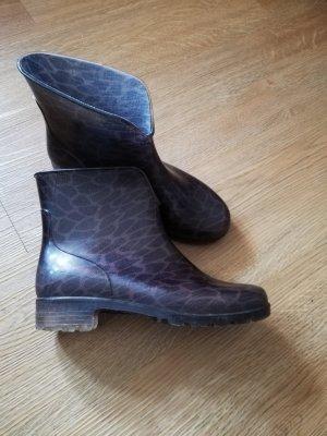 Wellington laarzen antraciet-grijs-bruin