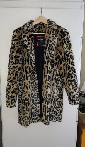 Leoprint-Mantel Fake Fur