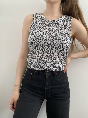 Leoprint Top mit Zipp