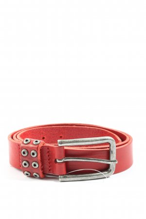 Leos Leather Belt red casual look
